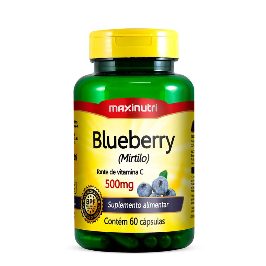 Blueberry 500mg - 60 Caps Maxinutri