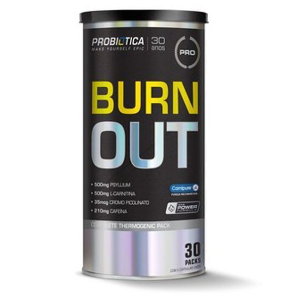 Burn Out Black 30 Packs Probiótica  - Vitta Gold