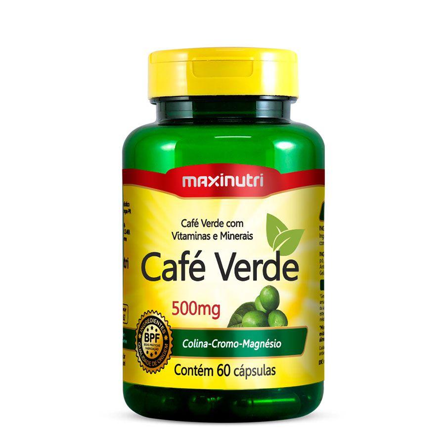 Café Verde + (Colina/Cromo/Mag/Vit.C) - 60 Caps Maxinutri