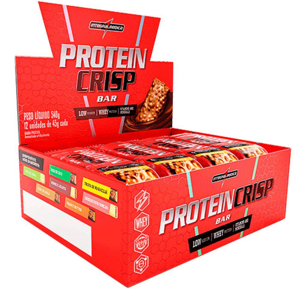 Caixa Protein Crisp 45g 12 Unidades Integralmédica