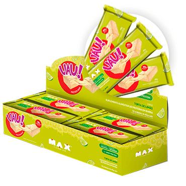 CAIXA UAU PROTEIN BAR TORTA DE LIMAO MAX TITANIUM  - Vitta Gold