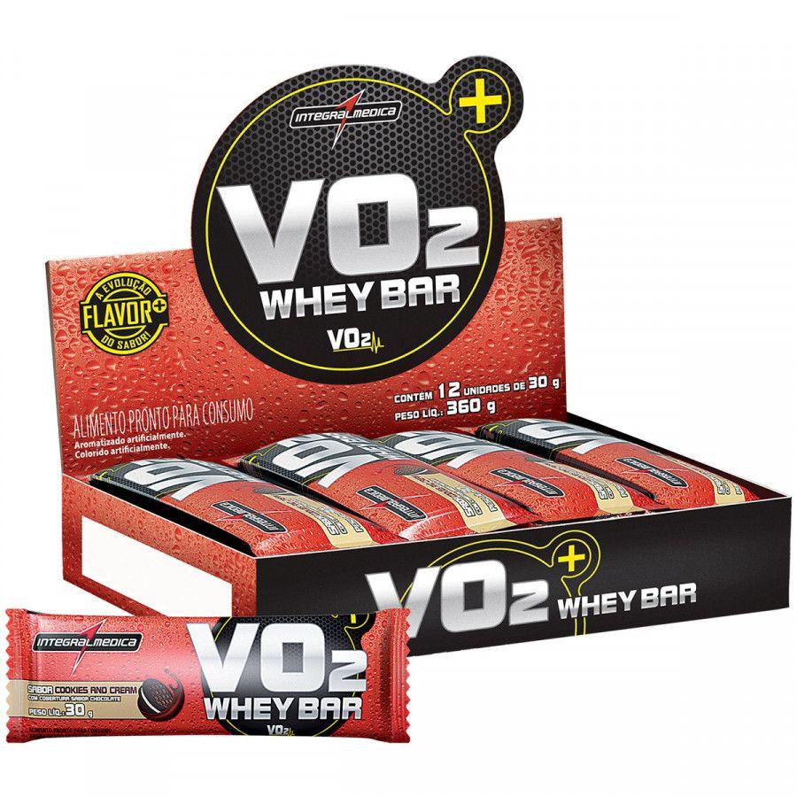 Caixa VO2 Protein Bar 30g 12 Unidades Integralmédica