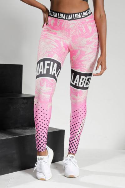 Calça Legging Feminina Labellamafia Full Print Rosa Pink