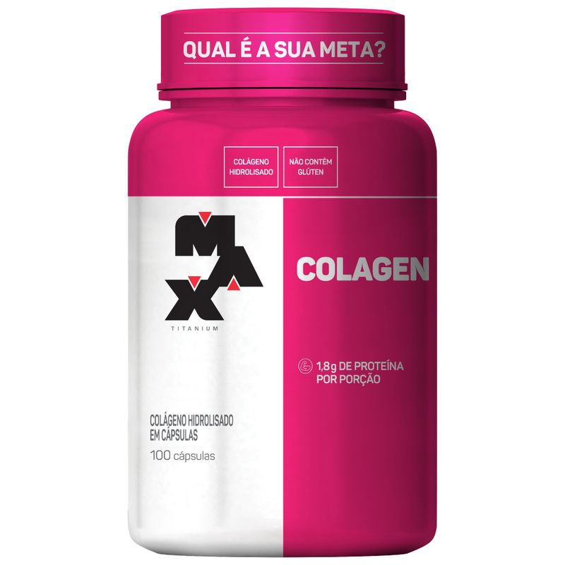 Colágeno 100 Cápsulas Max Titanium