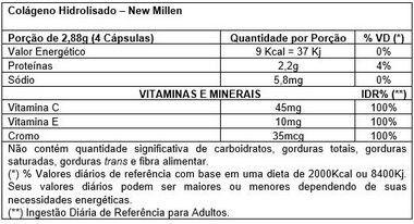 Colágeno Hidrolisado 120 Cápsulas New Millen