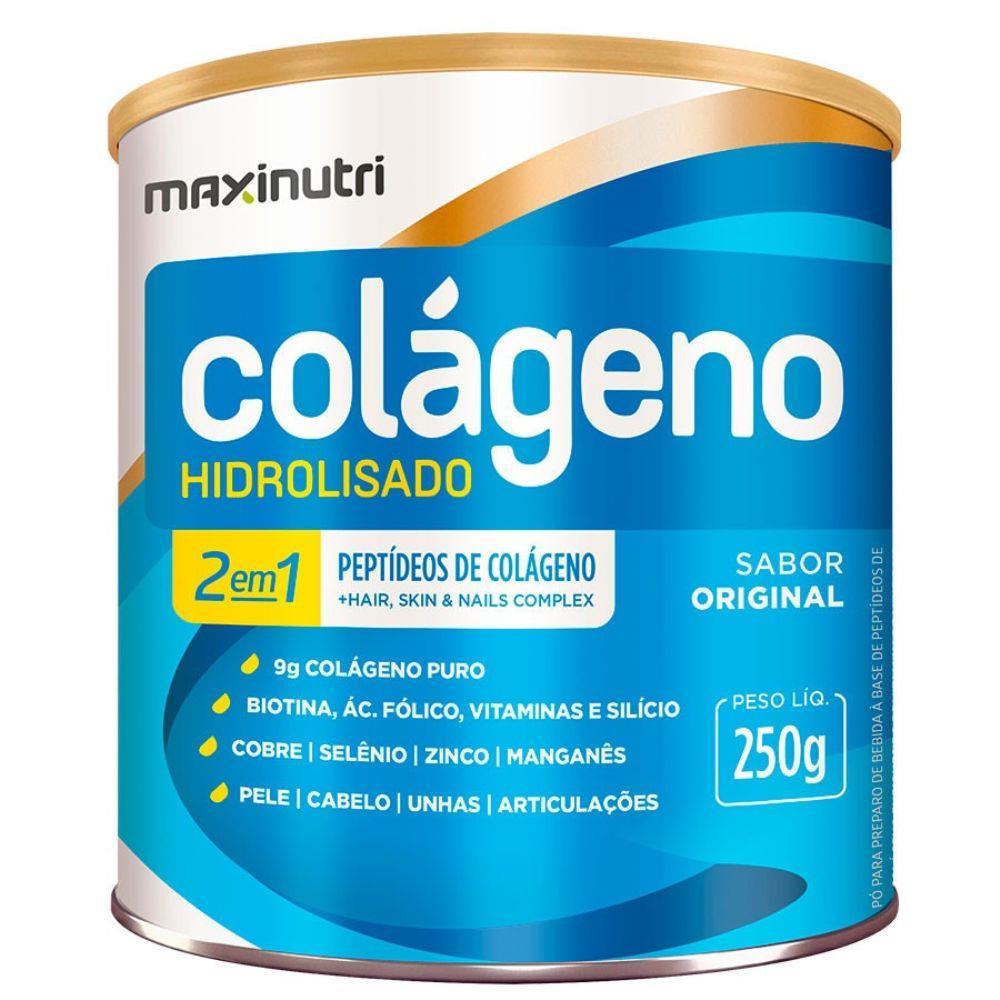 Colágeno Hidrolisado 2 Em 1 250g Maxinutri