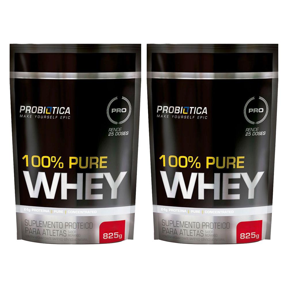 Combo 2x 100% Pure Whey Refil 825g Probiótica