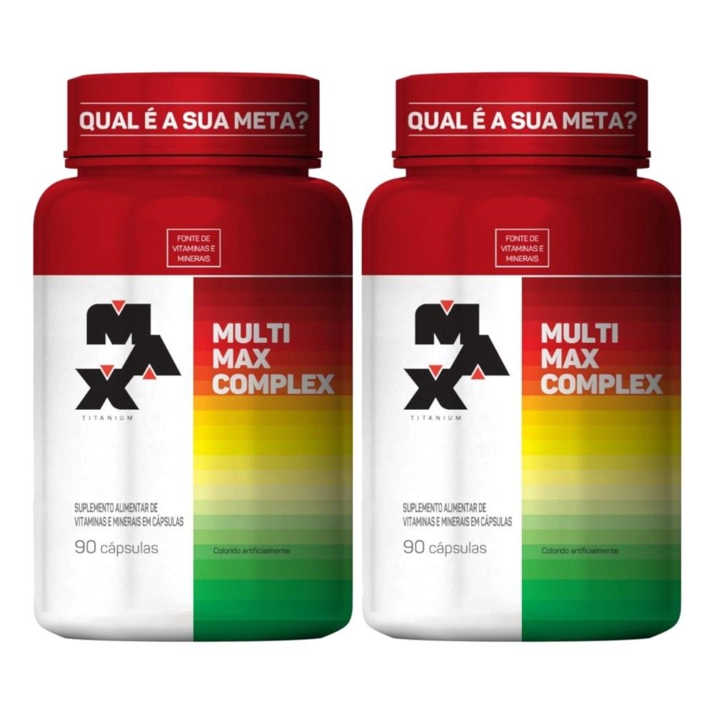 Combo 2x Multimax Complex - 90 Cápsulas Cada - Max Titanium
