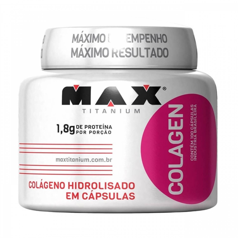 Combo 3x Colágeno 100 Cápsulas Max Titanium