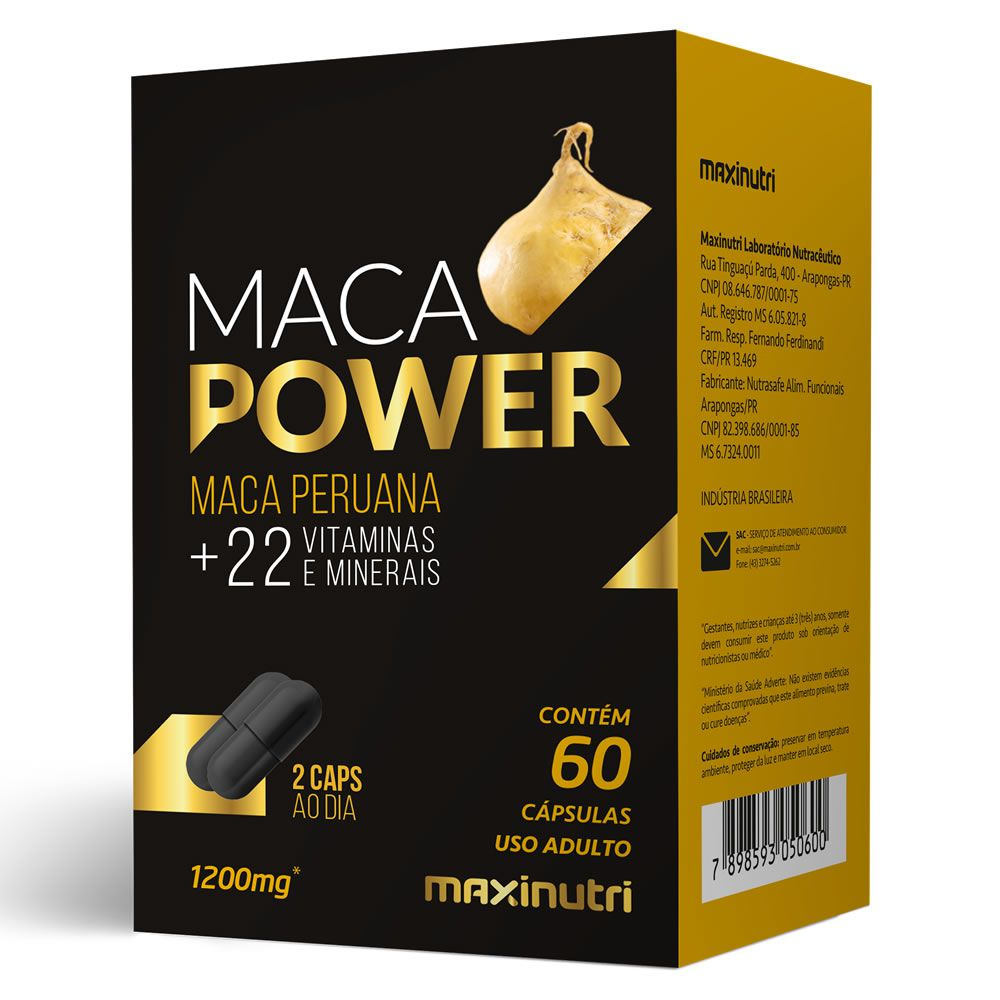 Combo 3x Maca Power 60 Cápsulas Maxinutri  - Vitta Gold