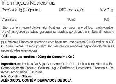COQ-10 100mg 60 Cápsulas Vitafor  - Vitta Gold
