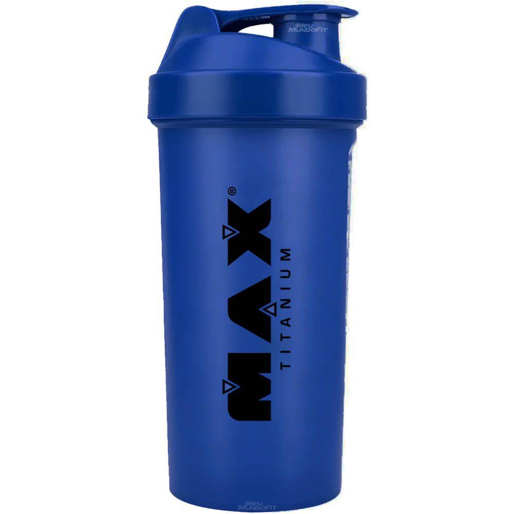 Coqueteleira Azul 600ml Max Titanium  - Vitta Gold