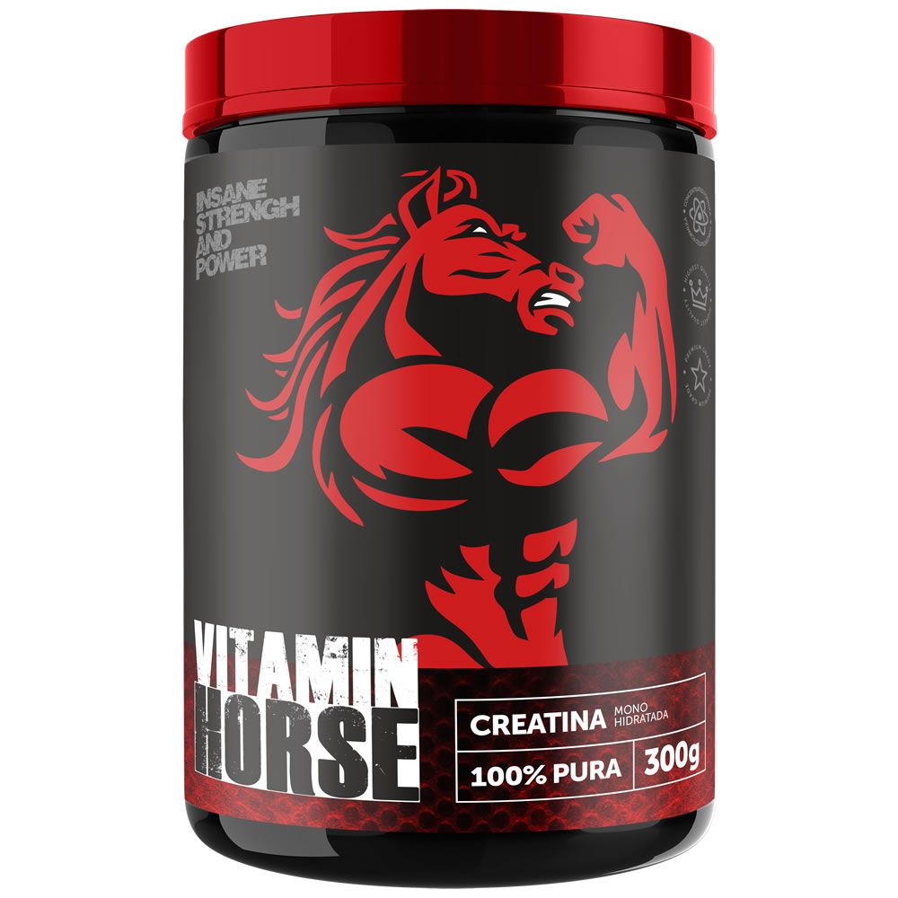 Creatina 100% Pura 300g Vitamin Horse