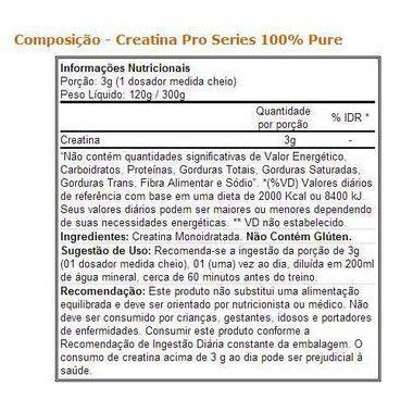 Creatina 100% Pure 300g Atlhetica Nutrition  - Vitta Gold