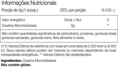 Creatine Monohidratada 300g Vitafor  - Vitta Gold