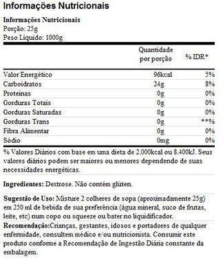 Dextrose Natural 1kg Probiótica  - Vitta Gold