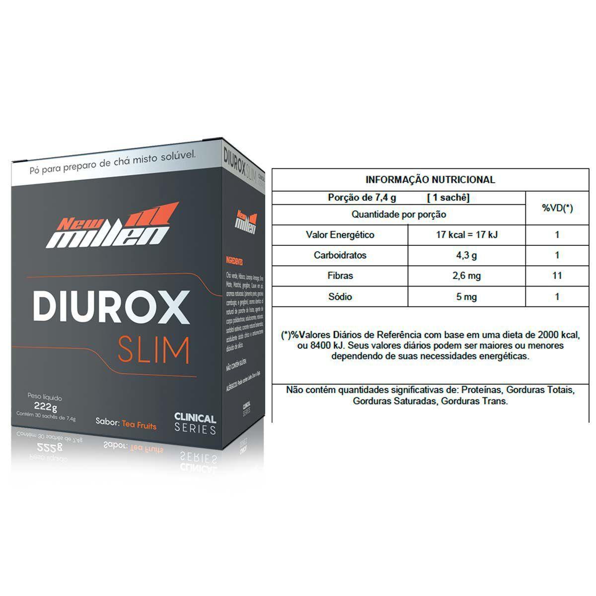 Diurox Slim 30 Sachês New Millen  - Vitta Gold