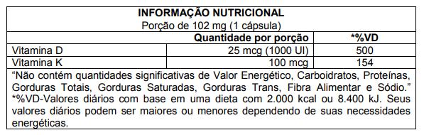 DSUN + K2 60 Cápsulas CleanLab Atlhetica Nutrition  - Vitta Gold