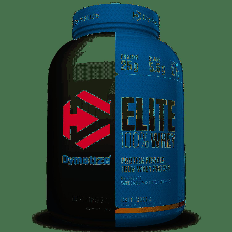 Elite Whey Protein 5lbs Dymatize Cafe Mocha - Dymatize