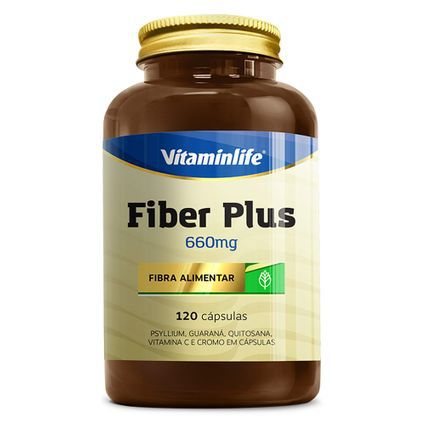 Fiber Plus 660mg 120 Cápsulas Vitaminlife  - Vitta Gold