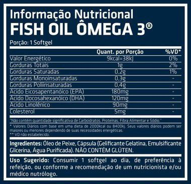Fish Oil Ômega 3 100 Softgels Performance Nutrition