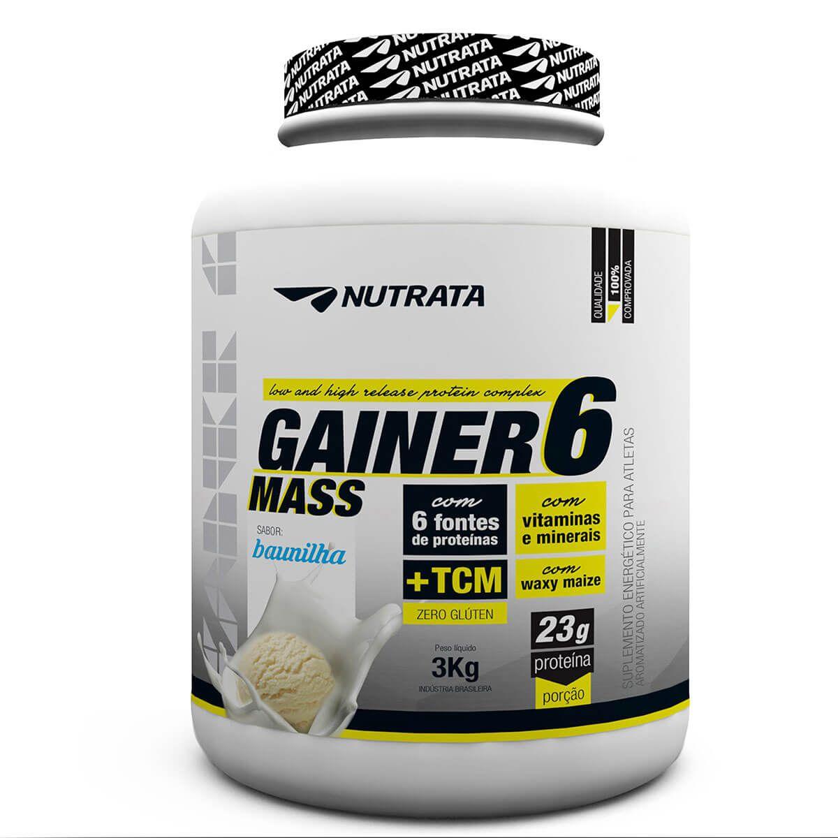 Gainer 6 Mass 3kg Nutrata