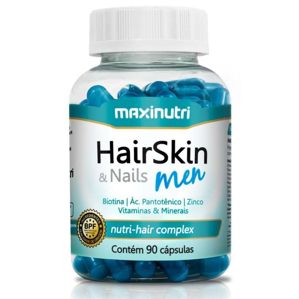 Hair Skin Nails Men 90 Cápsulas Maxinutri