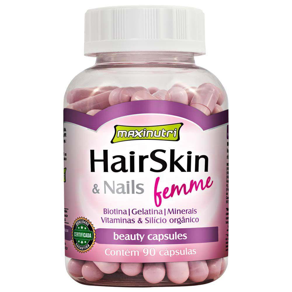 HairSkin e Nails Femme 90 Cápsulas Maxinutri