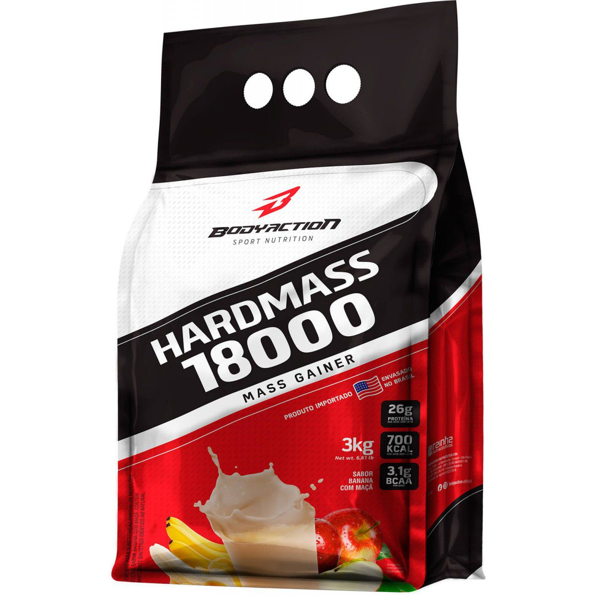 Hard Mass 18000 Mass Gainer 3kg Body Action  - Vitta Gold
