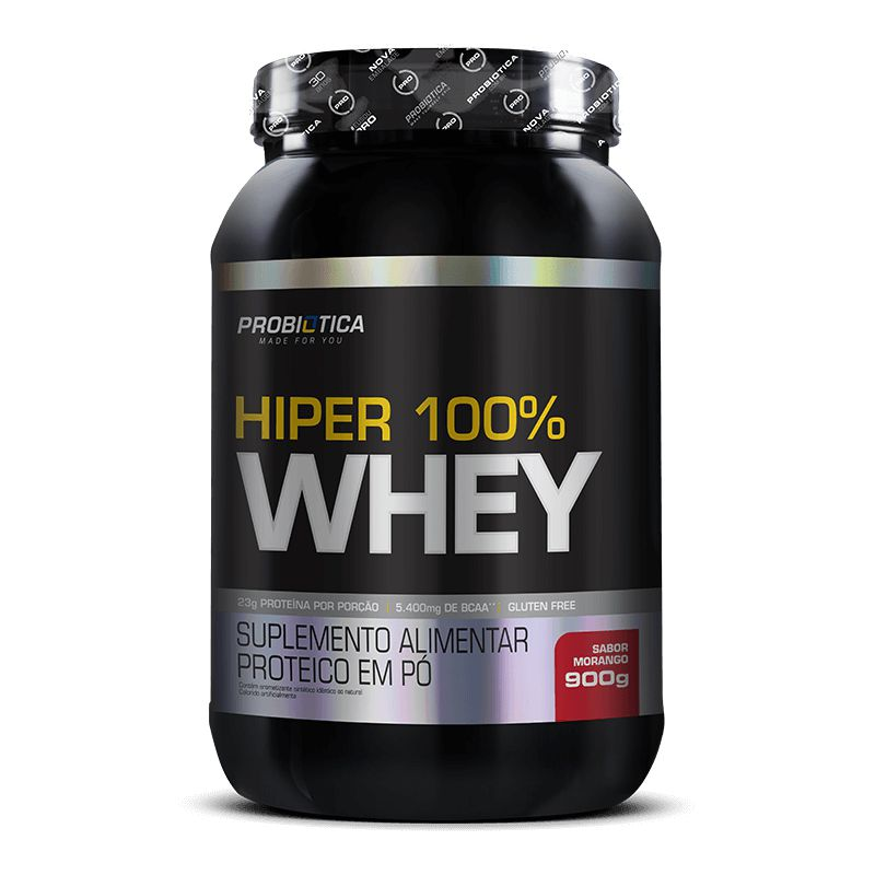 Hiper 100% Whey 900g Probiótica  - Vitta Gold
