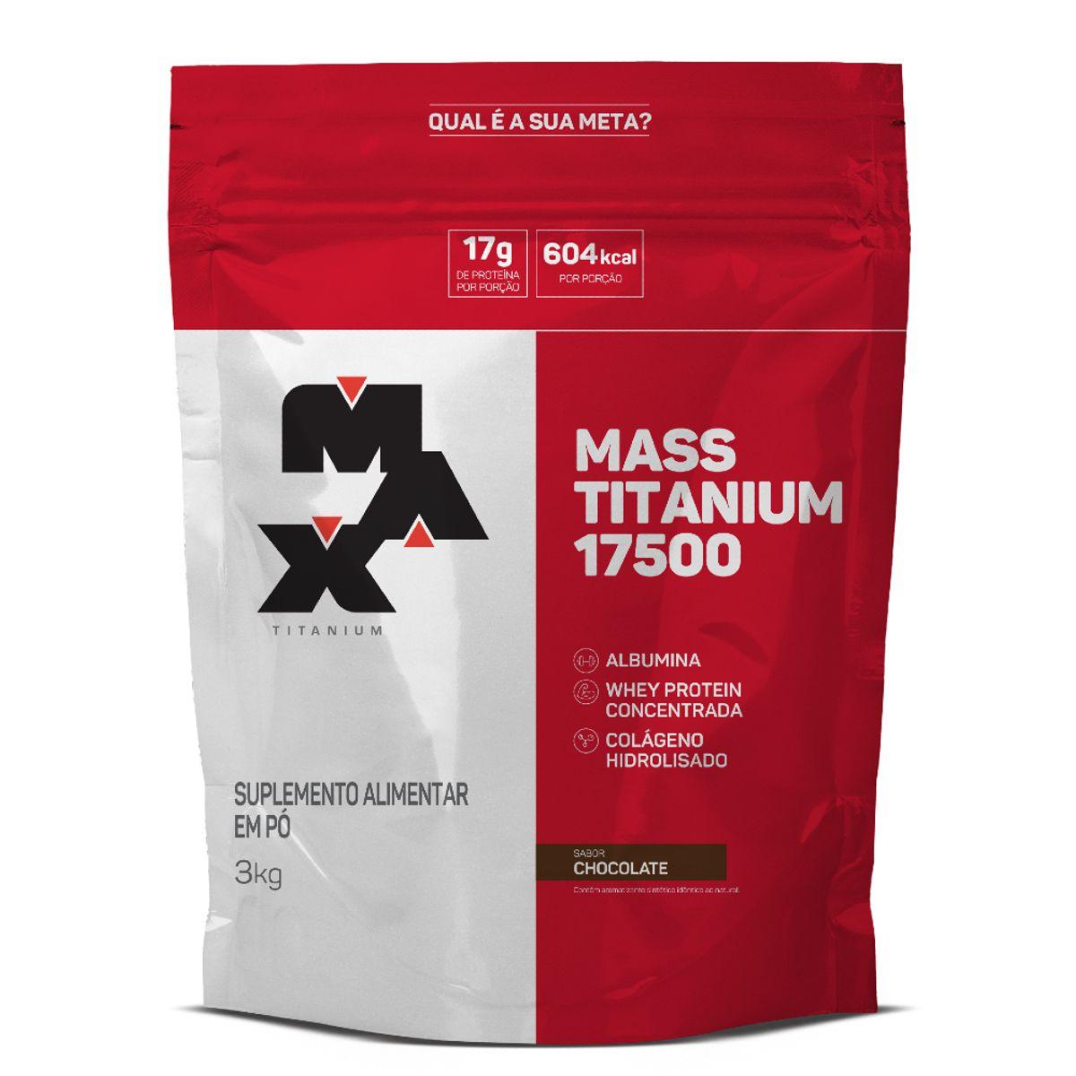 Hipercalórico Mass Titanium 17500 3kg - Max Titanium