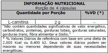 L-Carnitina 500mg 60 Cápsulas Vitafor  - Vitta Gold