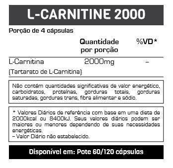 L-Carnitine 2000 120 Cápsulas Max Titanium  - Vitta Gold