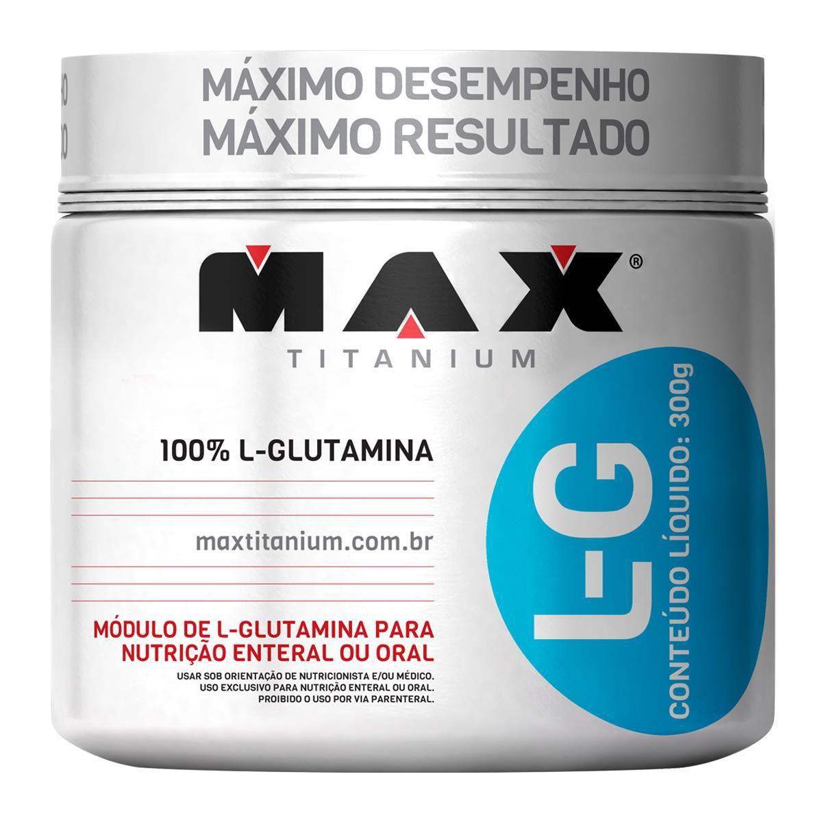 L-G Glutamina 150g Max Titanium  - Vitta Gold