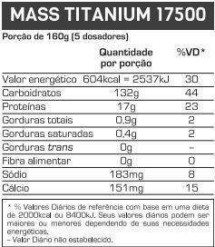 Mass Titanium 17500 1,4kg Max Titanium  - Vitta Gold