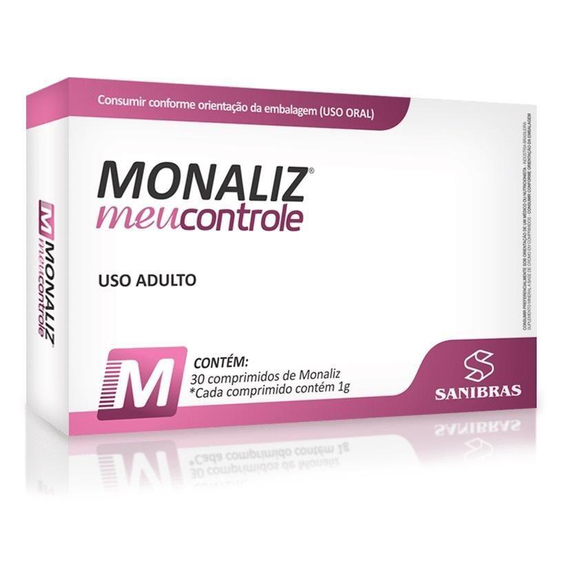 Monaliz Meu Controle 30 Cápsulas Sanibras  - Vitta Gold Nutrição Esportiva