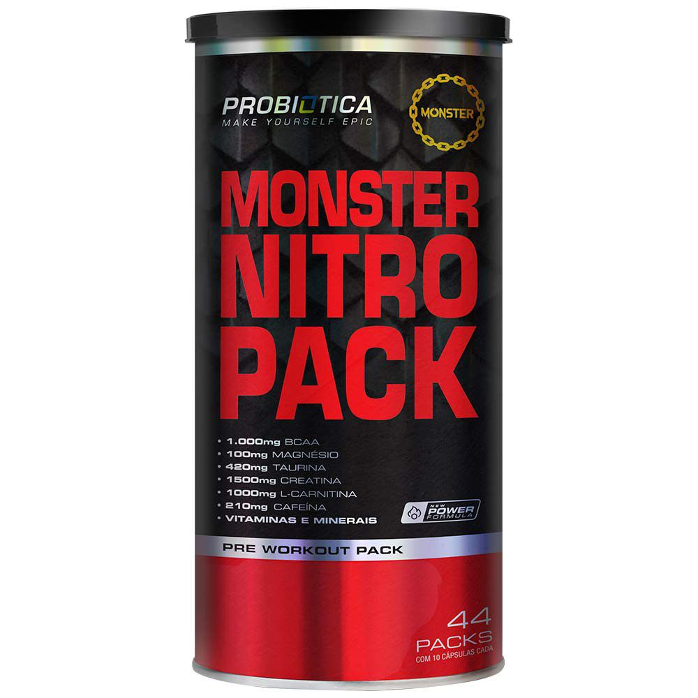 Monster Nitro Pack No2 44 Packs Probiótica  - Vitta Gold