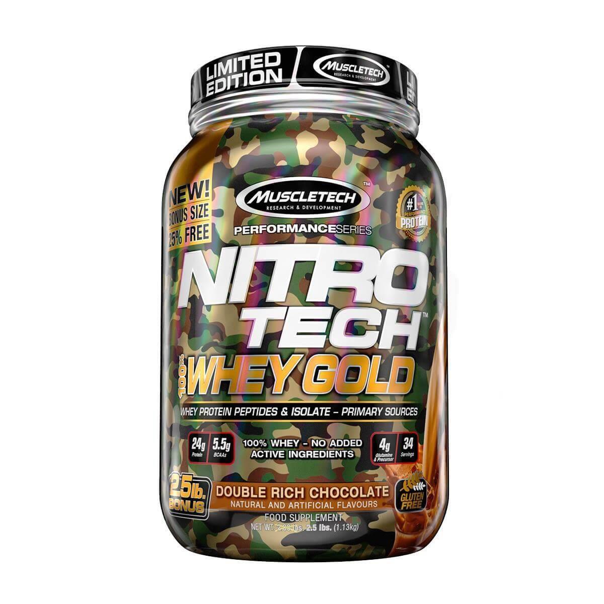 Nitro Tech 100% Whey Gold 2lbs Muscletech  - Vitta Gold