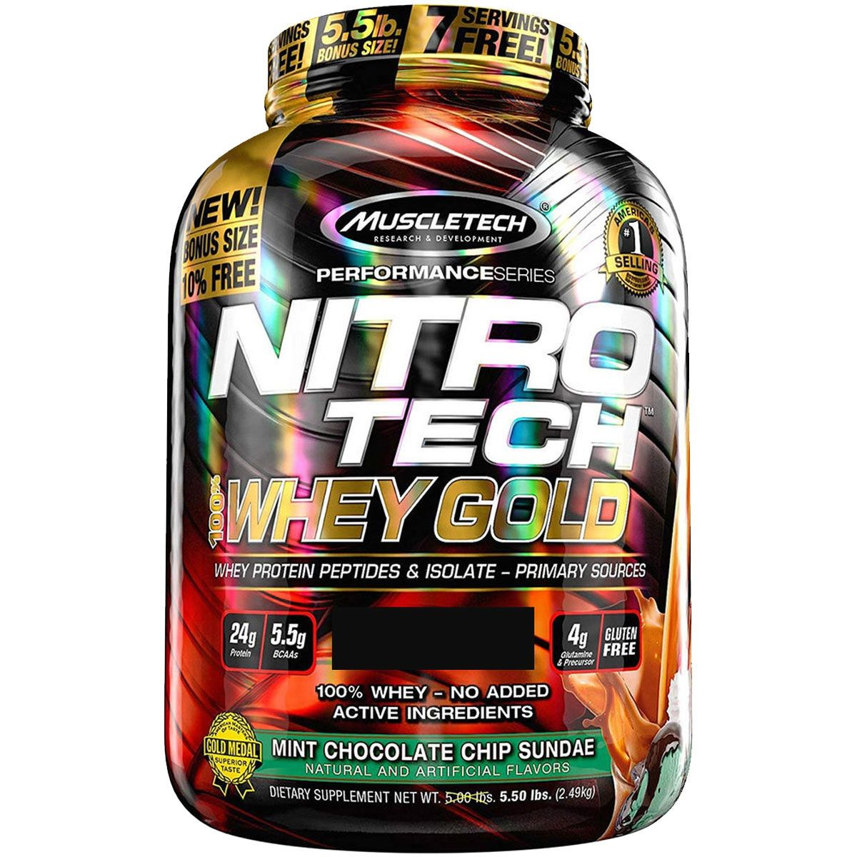 Nitro Tech 100% Whey Gold 5lbs Muscletech