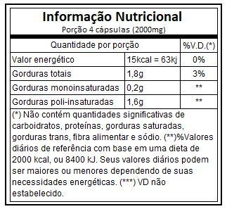 Óleo de Chia 500mg 60 Cápsulas Vitaminlife