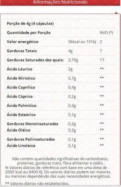 Óleo de Coco 1g 60 Cápsulas Vitafor