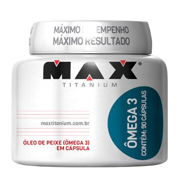 Ômega 3 90 Cápsulas Max Titanium