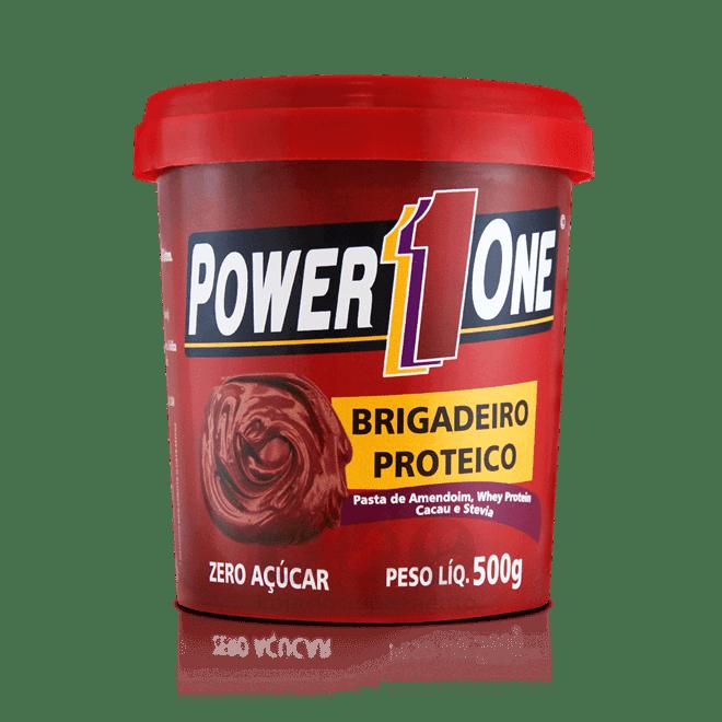 Pasta de Amendoim Brigadeiro Proteico 500g Power1One  - Vitta Gold