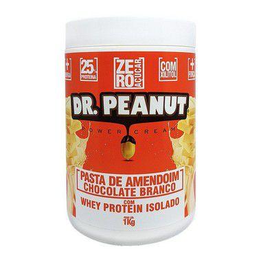 Pasta de Amendoim Chocolate Branco com Whey 1kg Dr. Peanut