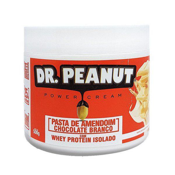 Pasta de Amendoim Chocolate Branco com Whey 500g Dr. Peanut