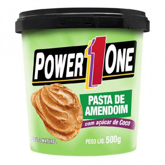 Pasta de Amendoim com Açúcar de Coco 500g Power1One