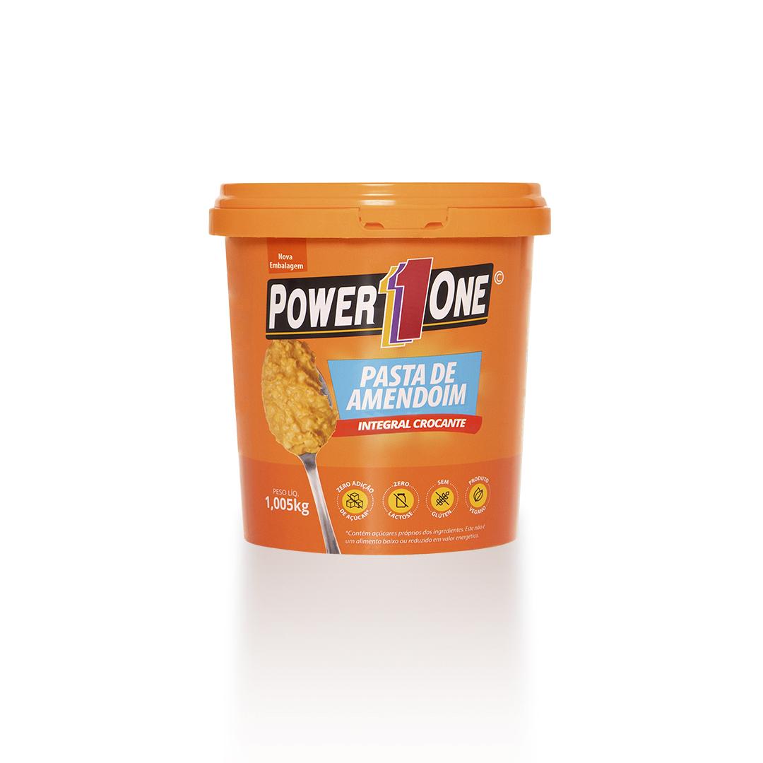 Pasta de Amendoim Crocante 1,05kg Power1One
