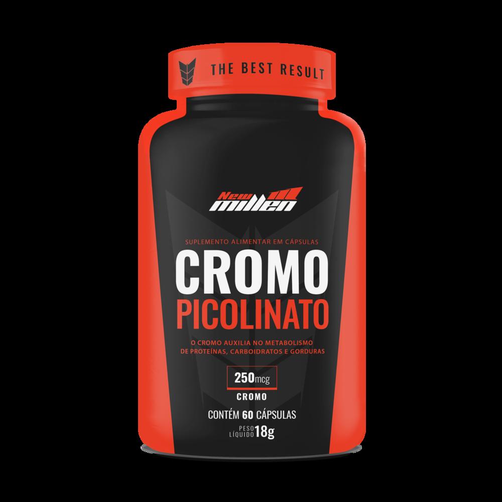 Picolinato de Cromo 60 Cápsulas New Millen