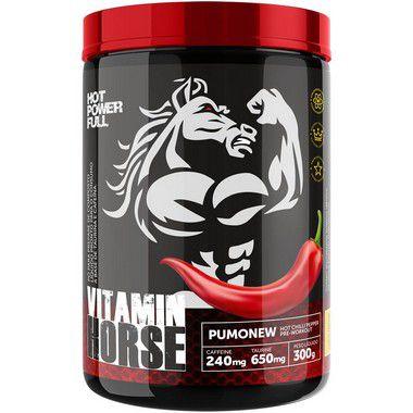 Pré Treino Pumonew 300g Vitamin Horse  - Vitta Gold Nutrição Esportiva