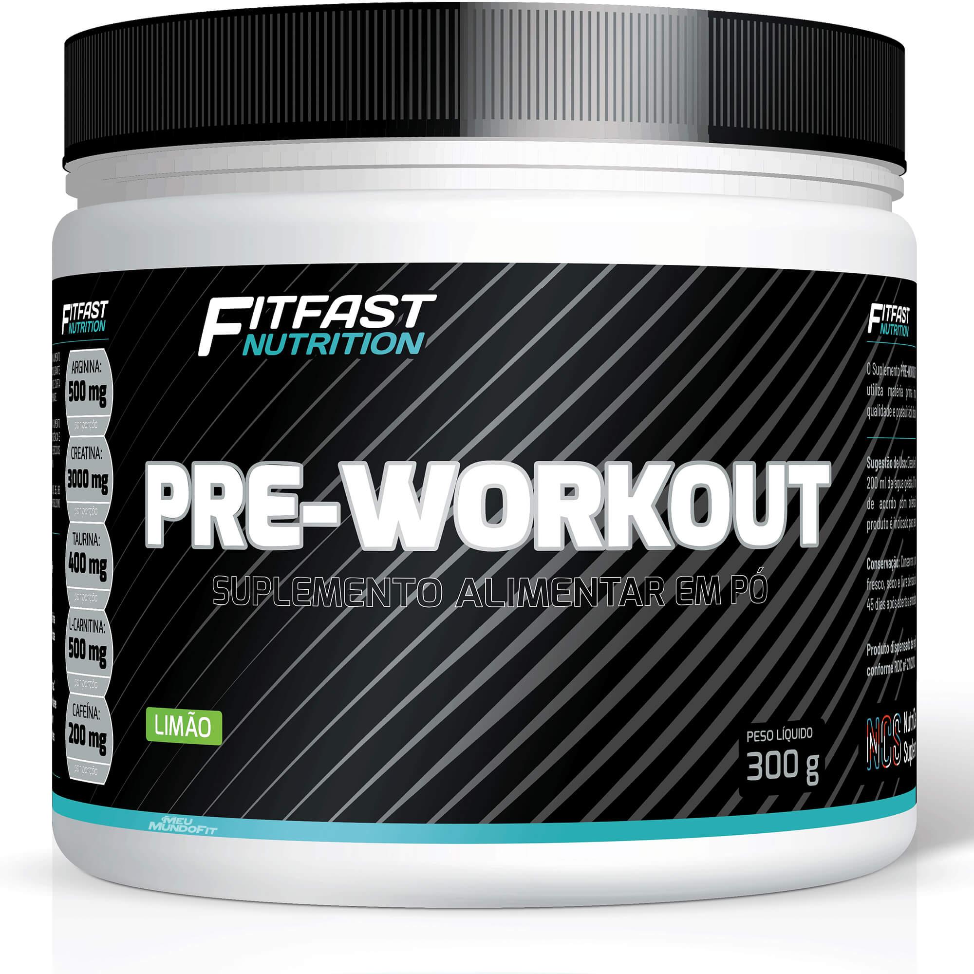 Pre-Workout Pré Treino 300g FitFast Nutrition